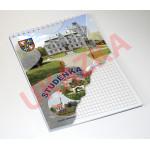 Blok v kroužkové vazbě s vlastní obálkou - čtverečkovaný 30 listů