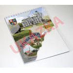 Blok v kroužkové vazbě s vlastní obálkou - prázdný 30 listů