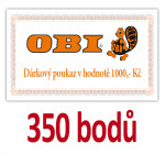 Poukaz na nákup v prodejnách OBI v hodnotě 1000 Kč