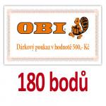 Poukaz na nákup v prodejnách OBI v hodnotě 500 Kč