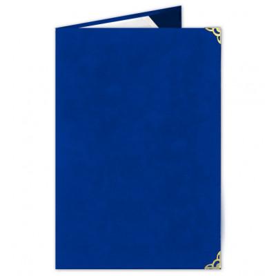 Luxusní semišová sloha - modrá