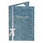 Luxusní semišové desky na rodný list